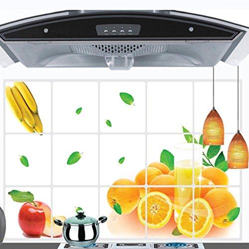 Preisvergleich Produktbild Tonsee Neue Küche Oilproof herausnehmbare Zitrone Wandsticker für Fliese Art Home Dekoration