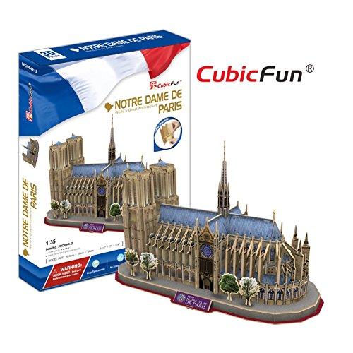 Cubic Fun - MC054h - Puzzle 3d - Notre Dame - 128 Pièces