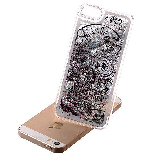 iPhone 7 Hülle Transparent,iPhone 7 Hülle Glitzer,iPhone 7 Case Slim,Schutzhülle Für iPhone 7 Hülle Transparent Hardcase,EMAXELERS 3D Kreative Liquid Bling Kristall Glitzer Hülle Case Für iPhone 7,iPh Heart Dandelion 12