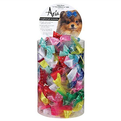 Artikelbild: Aria Dot Band mit Tüll Schleifen für Hunde, 100Kanister