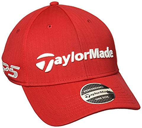 Taylormade Tour Radar, Casquette de Baseball Homme, Rouge, Taille Fabricant