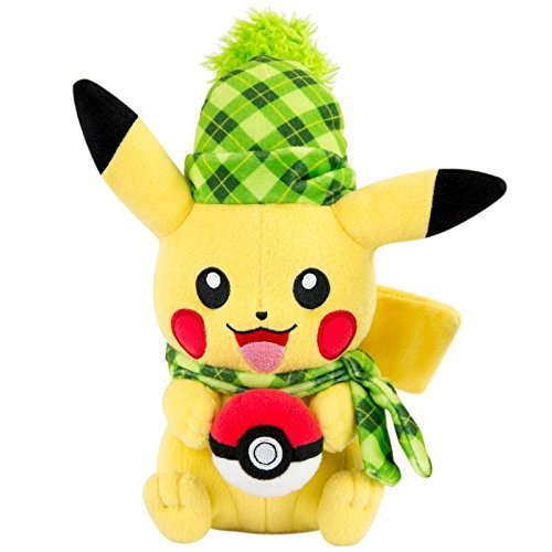 Pokemon Plüschtier Spezial Winteredition / Kuscheltier / Plüschfigur Pikachu mit...