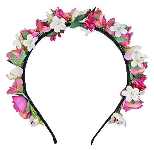 Boho Haarband Blumen Kranz Blüten Kopfband Stirnband Haarschmuck