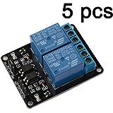 Gaoxing Tech. 5PCS 5V zwei 2 Kanal-Relais-Modul mit optocoupler Für Arduino PIC AVR DSP ARM