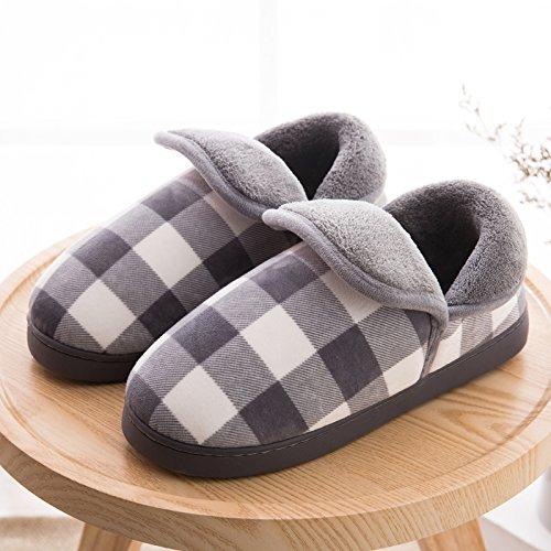 Pantoufles De Coton Fankou Paquet Complet Avec Hiver Chaud Épaississement Anti-dérapant Coton Chaussures Jeunes Pantoufles De Coton Rose Intérieur