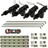 Image of 100ZV1 - Servo motor Central Door Lock Locking Kit for 4 doors Keyless Entry System Car Remote Control System - Comparsion Tool