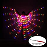 Soul Item Danza LED alas Leuchten Halloween Disfraces Etapa Performance Ropa para Adultos, Plata, with Sticks