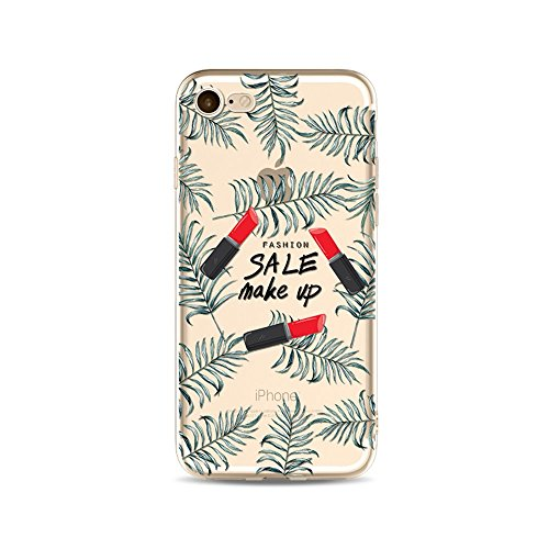 "CoqueiPhone 6S Plus Etui Housse,BoomTeck Coque Pour 5.5"" Apple iPhone 6S Pus/iPhone 6 Plus Silicone Souple Transparente Motif Clear Ultra Mince Anti Choc Anti-rayures Gel TPU Etui Protection Bumper C 06"