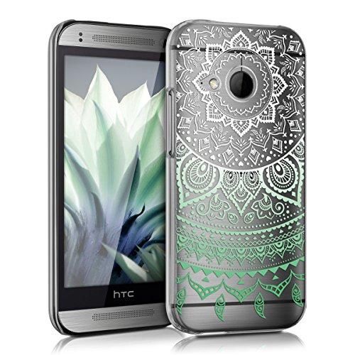 kwmobile HTC One Mini 2 Hülle - Handyhülle für HTC One Mini 2 - Handy Case in Mintgrün Weiß Transparent