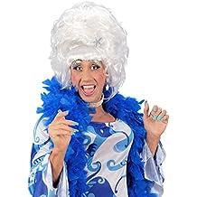 NET TOYS Drag Queen parrucca capelli bianchi per il Carnevale travestito  per uomini b9e13cf414a1