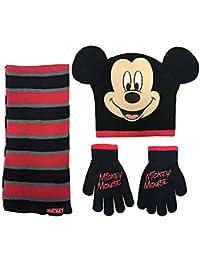 Disney cap Beanie Mickey Mouse Kids   Guanti e Sciarpa Set 365209 1c0115f6dc58