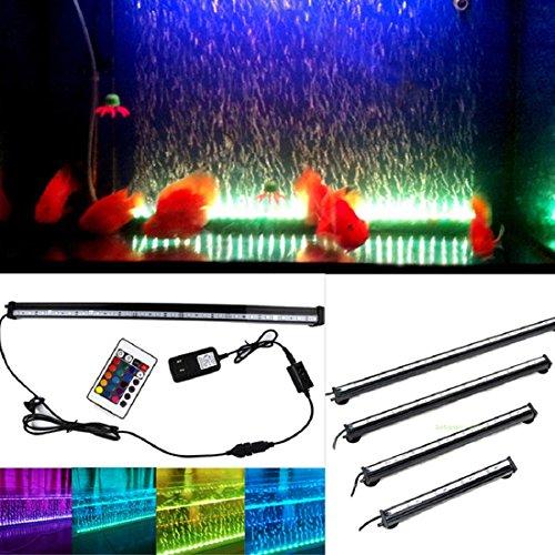 Kit con luce LED con bolle per acquario, crea una cortina subacquea di bolle che si illumina e cambia colore, flessibile, con ventosa