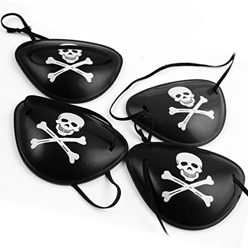 Beetest reg; 12 pz pirata skull crossbone benda sull'occhio maschera pirata per halloween natale cosplay partito masquerade ball