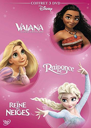 Vaiana, la légende du bout du monde + Raiponce + La Reine des neiges