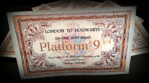 Harry Potter Geschenk Hogwarts Ticket das ideale Geschenk für einen Party Pack oder World Book Day at School.