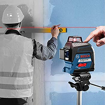 Bosch Professional GLL 3-80 Laser Level (Working Range: Up to 30 m, 4x Battery, AA, in Carrying Case)
