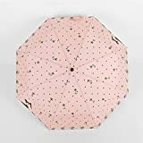 Alger 8 hueso de la historieta paraguas automático sombrilla paraguas de vinilo , light powder , 540*8k