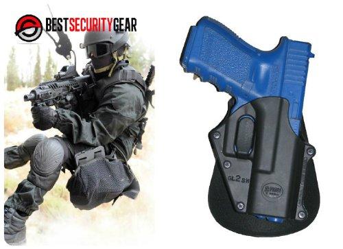 FOBUS Sicherheits-Rueckhalte Paddle Holster für Rechtshänder RH in schwarz für GLOCK 17, 19, 22, 23, 25, 26, 31, 32, 34, 35 + Astra R-900 XS FOBUS GL-2 SH + Best Security Gear Magnet