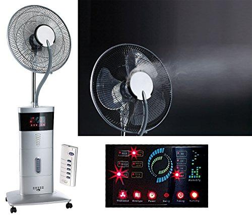 Preisvergleich Produktbild Sichler Haushaltsgeräte Kühlventilator: Kühl-Ventilator mit Sprühnebel & Ionisator, 100 Watt (Ventilator mit Wasserkühlung)