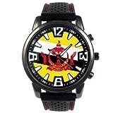 Timest - Brunéi - Reloj para hombre con correa de silicona negro Analógico Cuarzo SF031