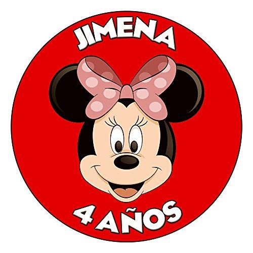 OBLEA de Papel de azúcar Personalizada, 19 cm, diseño de Disney Minnie...