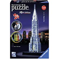Ravensburger Italy 125951 - Puzzle 3D Chrysler Building Night Edition, Multicolore