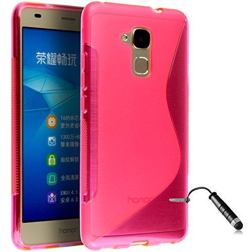 Ownstyle4you Huawei GT3 / Honor 5C Gel Schutzhülle Case Hülle Tasche S-Line PINK + Schutzfolie + Pen