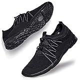 Lavibelle Hommes Chaussure d'eau Mesh LšŠgššres Respirante Slip-on SšŠchage Rapide Aqua Eau Chaussures Noir EU 41