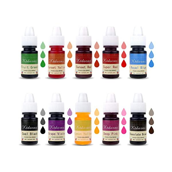 Food Colouring Food dye Flo Concentrated Liquid Food Air Brush - 10 Colours (6ml) 2