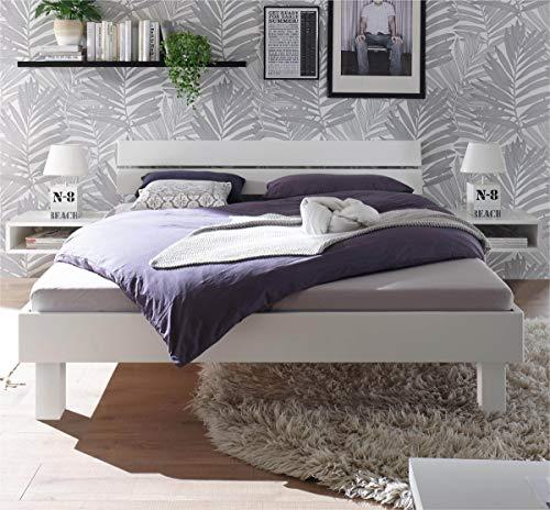 Hasena Fine Line Bett Prato 25 Kopfteil Ello Buche weiß deckend 100x200