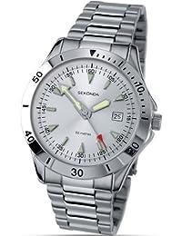 Offen Sekonda Unisex-adult Analogue Classic Quartz Watch With Leather Strap 1184.27 Armbanduhren