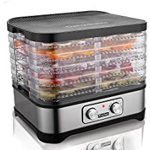Meykey Essiccatore di frutta e verdura,Disidratatore Temperatura regolabile,5 Piani,250W,BPA Free,Nero