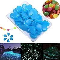 Piccoli ciottoli sintetici che brillano al buio, decorazione per giardino o acquario per esterni Taglia libera #1