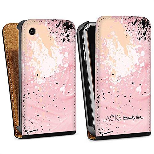 Apple iPhone 5s Housse Étui Protection Coque Tache de couleur Motif Motif Sac Downflip noir