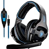 SADES SA810 New Xbox one PS4 PC Gaming Headsets Headphones, 3.5mm Jack Gaming Headset Stereo Sound Over-ear Headphone with Microphone Volume Control