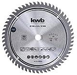 KWB 586568 - Lama di precisione per sega circolare da falegname, lama in legno/legno duro, 190 x 16 mm, taglio fine, numero alto, 56 denti Z-56