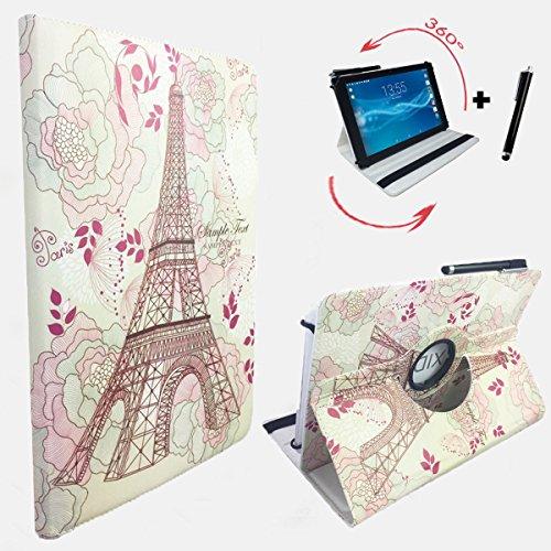 Preisvergleich Produktbild Paris Motiv Schutz Tasche MEDION LIFETAB P10505 MD 99985 MD 99984 mit Standfunktion, optimaler Tablet Schutz - 10.1 Zoll 360° Paris 5