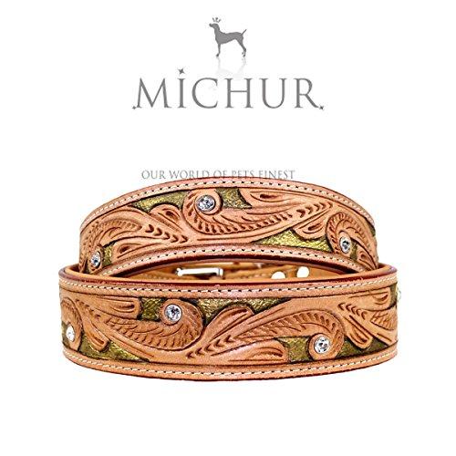 MICHUR Goldeneye, Hundehalsband, Lederhalsband