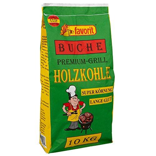 44 x 10 kg Favorit Holzkohle BUCHE, Grillkohle, Kohle - Buchenholz - 440 kg Palette mit 44 Sack