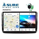 A-SURE 2GB RAM android 8.1 Autoradio 9 zoll GPS Mirrorlink 1024*600 Wifi Bluetooth 4G LTE OBD2 DAB+ für VW GOLF TOURAN PASSAT TIGUAN T5 EOS Sharan Polo SKODA Yeti Octavia Fabia SEAT Altea KU-9-W7J 2-Jahre-Garantie