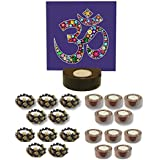 TYYC New Year Gifts Items Angelic Om Tealight Candle Holders Set Of 21 | New Year Tea Lights T-lites Candles Diyas Lights For Home Decoration Items Home Decor | New Year Corporate Gifts For Office, Employees, Clients, Staff