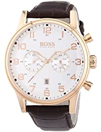 Hugo Boss  1512921 - Reloj de cuarzo para hombre, con correa de cuero, color marrón