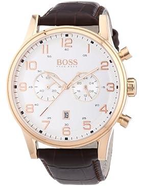 Hugo Boss Herren-Armbanduhr Analog Quarz Leder 1512921