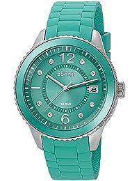 Esprit ES105342024 marin 68 pastel green Uhr Damenuhr Kautschuk Edelstahl 100m Analog Datum grün