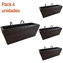pack jardineras para balcn rectangular en color marrn portes gratis