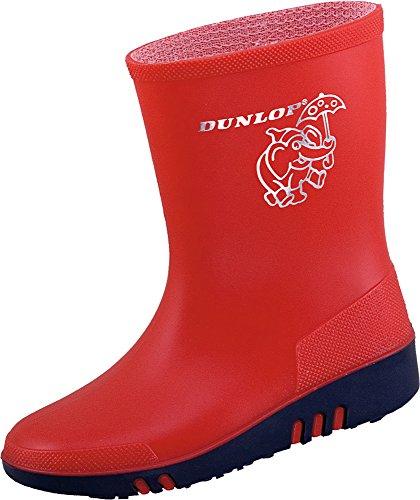 Dunlop Mini Kinder Gummistiefel Rot