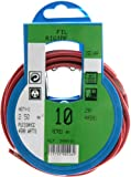 Profiplast PRP500226 - Bobina de cable (H07V-U, 2,5 mm² x 10 m), color rojo