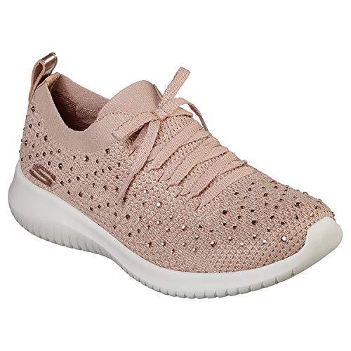 Skechers Ultra Flex Strolling Out Womens Shoes 39 EU Rose Low Heel Stretch-heels