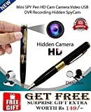 ZONGG Pen Spy Camera for HD Video and Voice Recording with USB Port and Memory Card Slot
