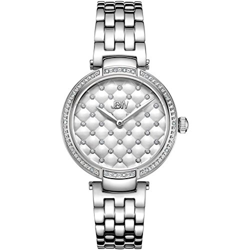 JBW Women's Gala Diamond 34mm Steel Bracelet & Case Swiss Quartz Watch J6356C